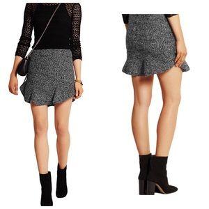 ISABEL MARANT | Grey Drye Wool Bouche Mini Skirt